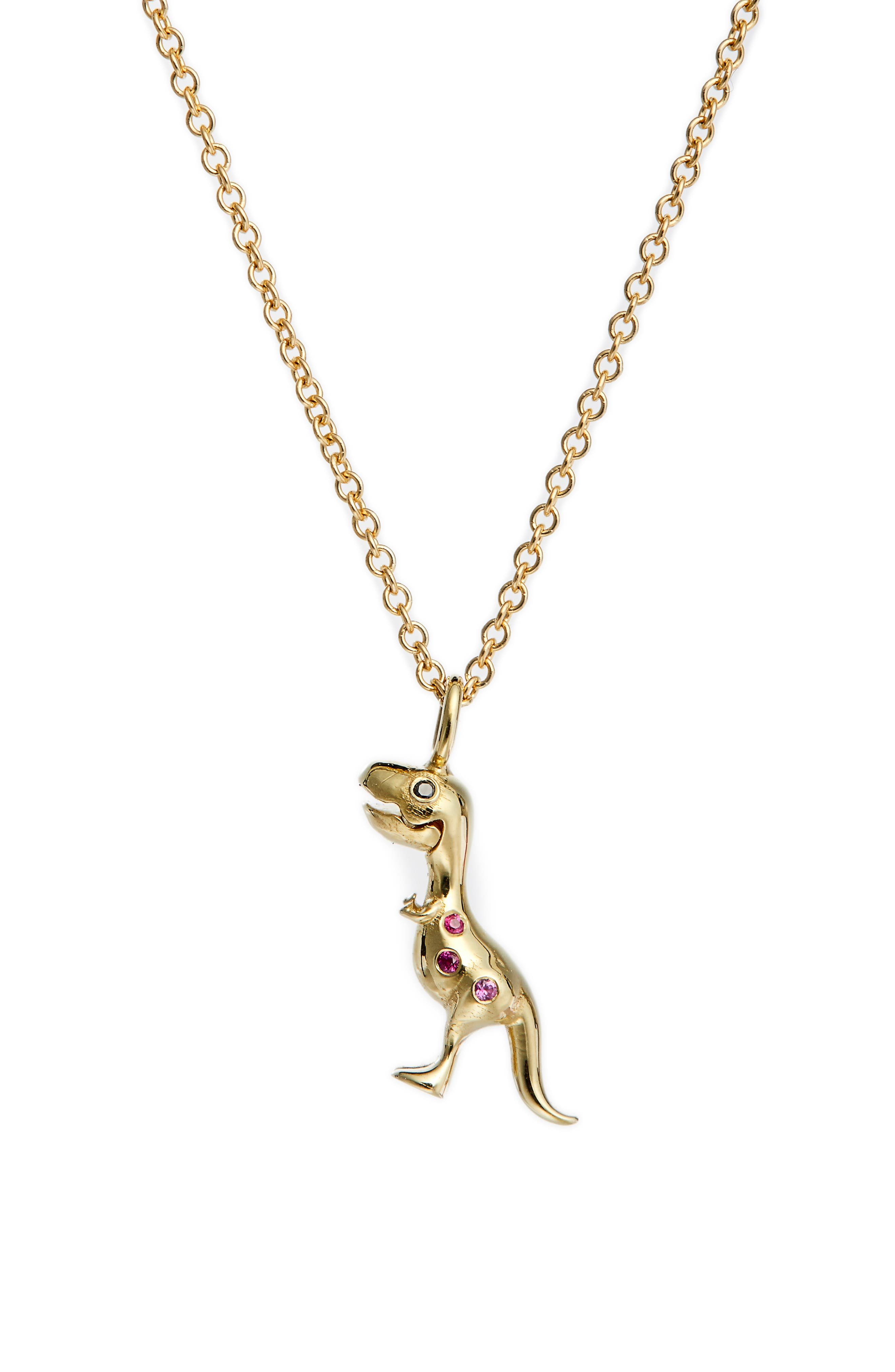 X Jurassic Park 25Th Anniversary Mini Baby T-Rex Ruby Pendant Necklace (Nordstrom Exclusive)
