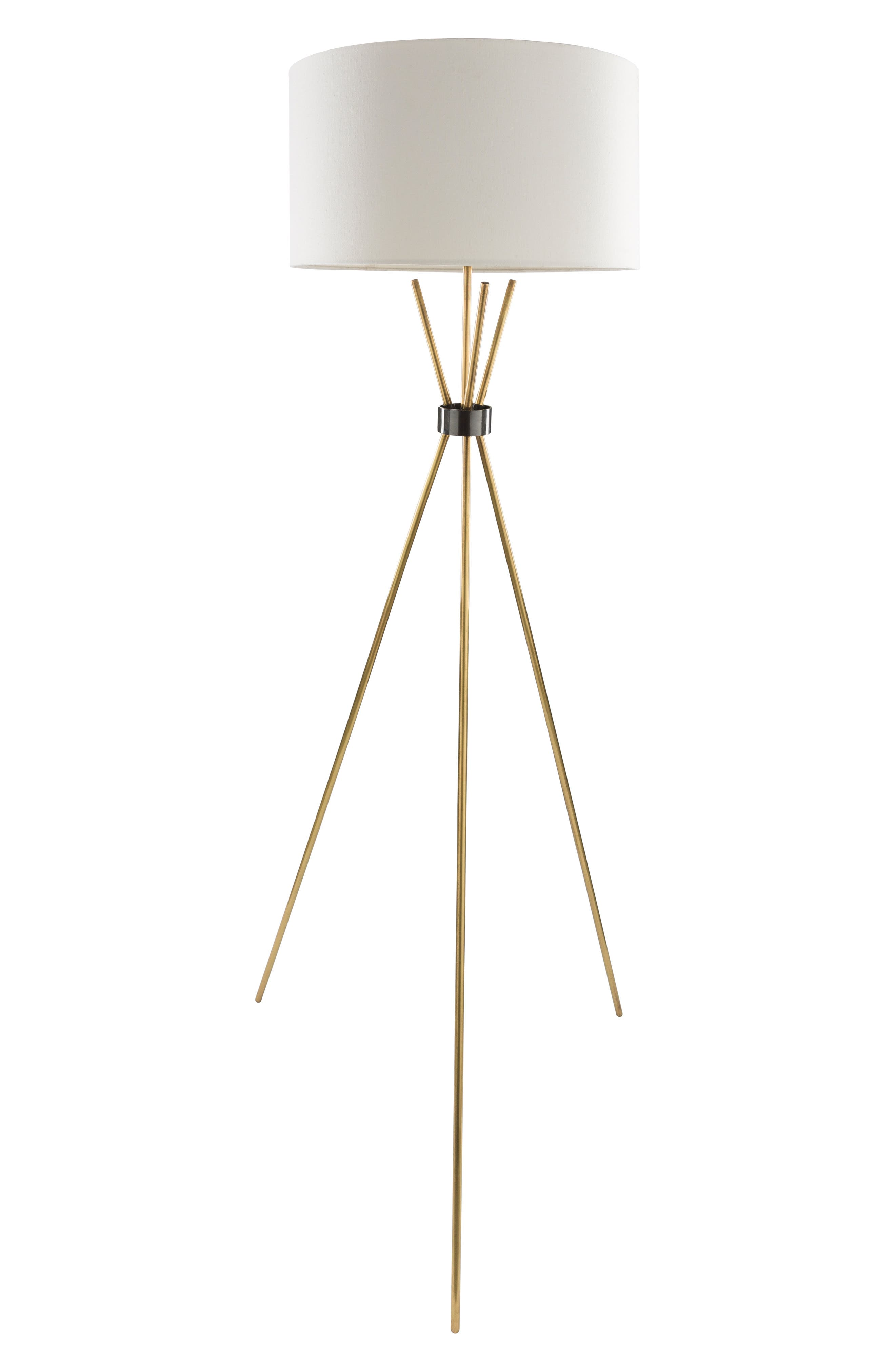 Surya Home Nathan Floor Lamp Size One Size  White