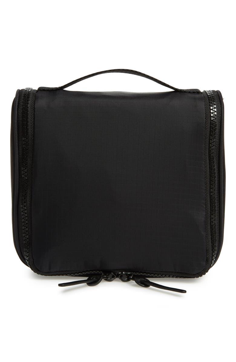 NORDSTROM Toiletry Bag, Main, color, BLACK