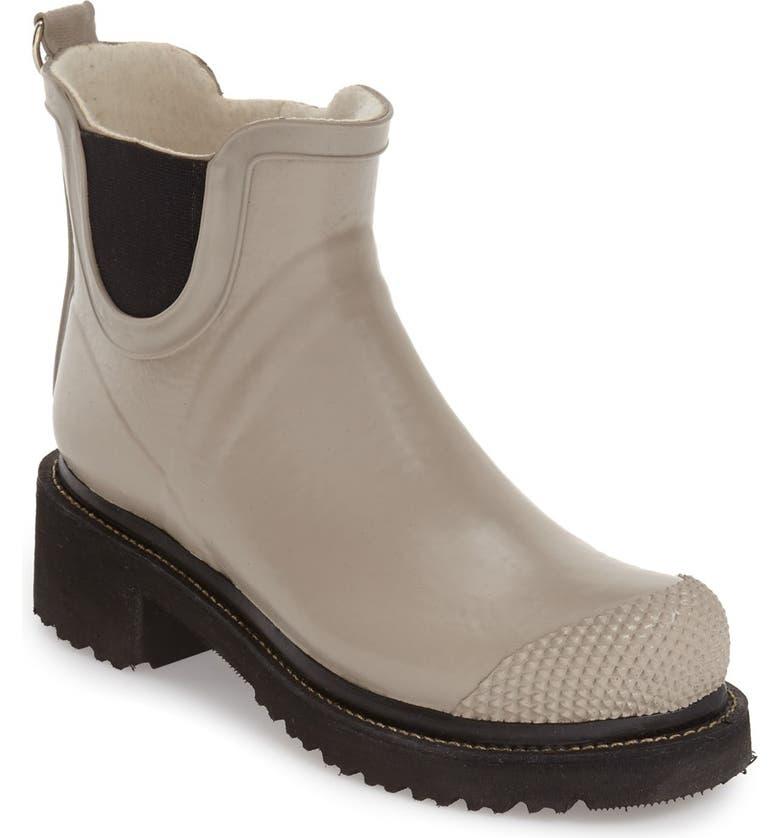 ILSE JACOBSEN 'RUB 47' Short Waterproof Rain Boot, Main, color, ATMOSPHERE