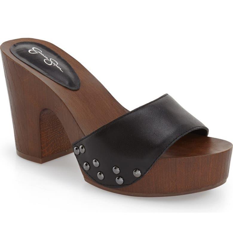 JESSICA SIMPSON 'Karema' Clog Platform Sandal, Main, color, 001
