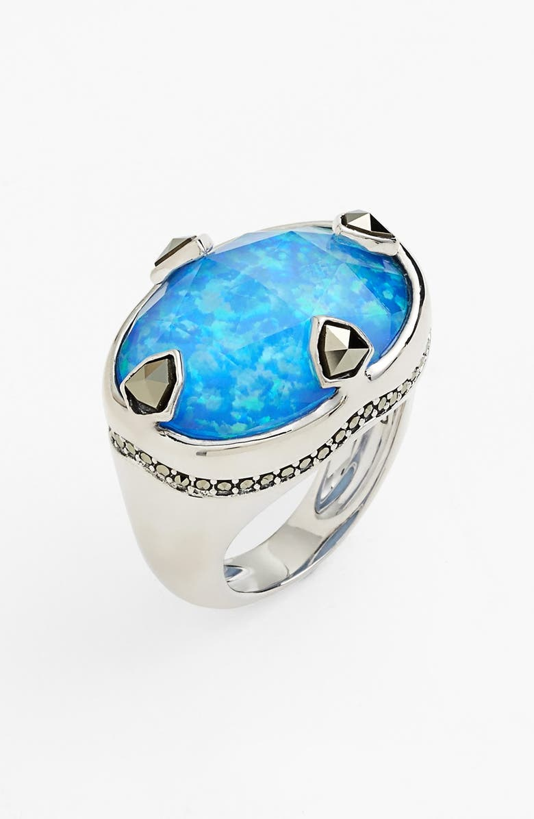JUDITH JACK 'Blue Sea' Stone Ring, Main, color, 040
