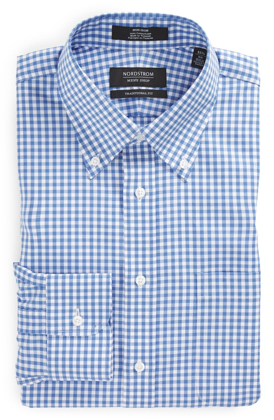 ,                             Traditional Fit Non-Iron Gingham Dress Shirt,                             Alternate thumbnail 15, color,                             450