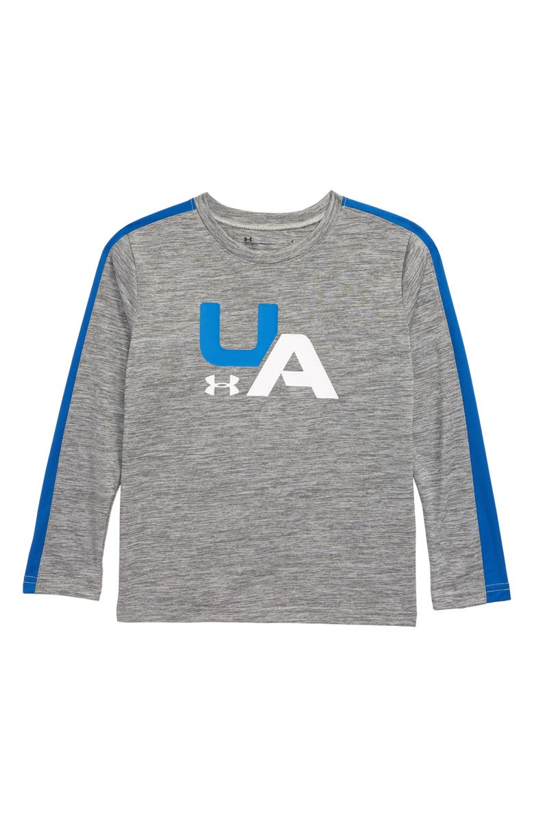 UNDER ARMOUR Racer Stripe Twist Long Sleeve Shirt, Main, color, 050