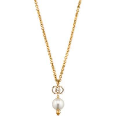 Gucci Interlocking-G Imitation Pearl Necklace