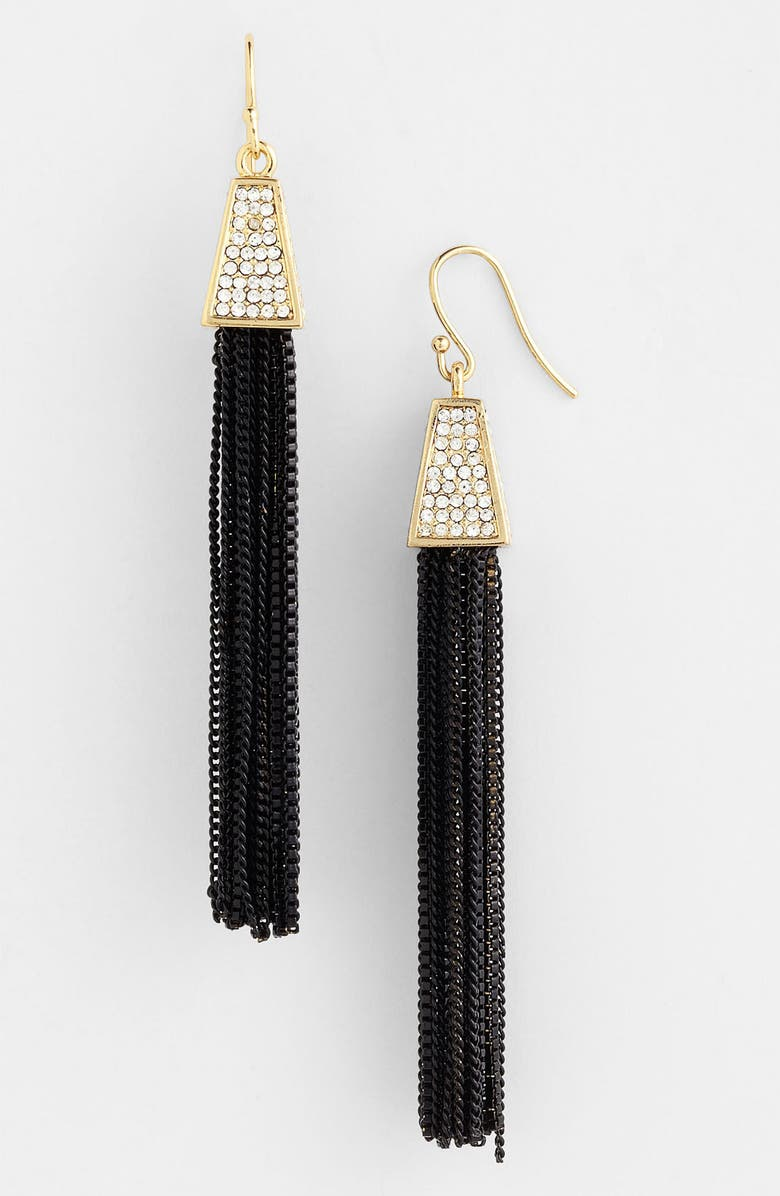 VINCE CAMUTO Tassel Earrings, Main, color, 001