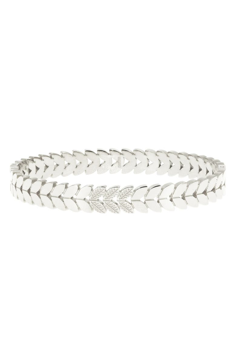 RAGEN JEWELS Braided Bangle, Main, color, SILVER