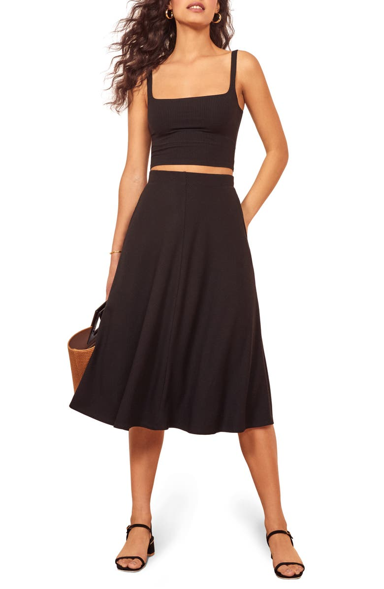 REFORMATION Molly Two-Piece Dress, Main, color, 001