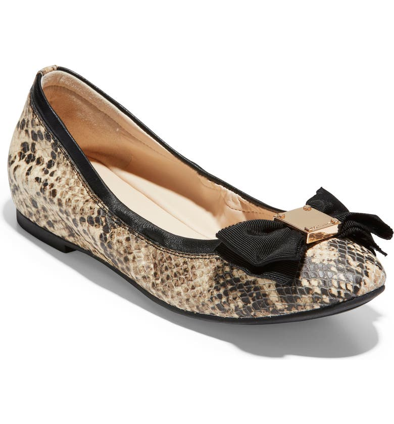 COLE HAAN Tali Ballet Flat, Main, color, ROCCIA SNAKE PRINT LEATHER