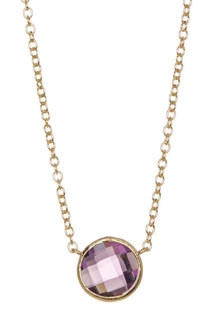 Image of Rivka Friedman 18K Gold Clad Bezel Set Amethyst Crystal Necklace