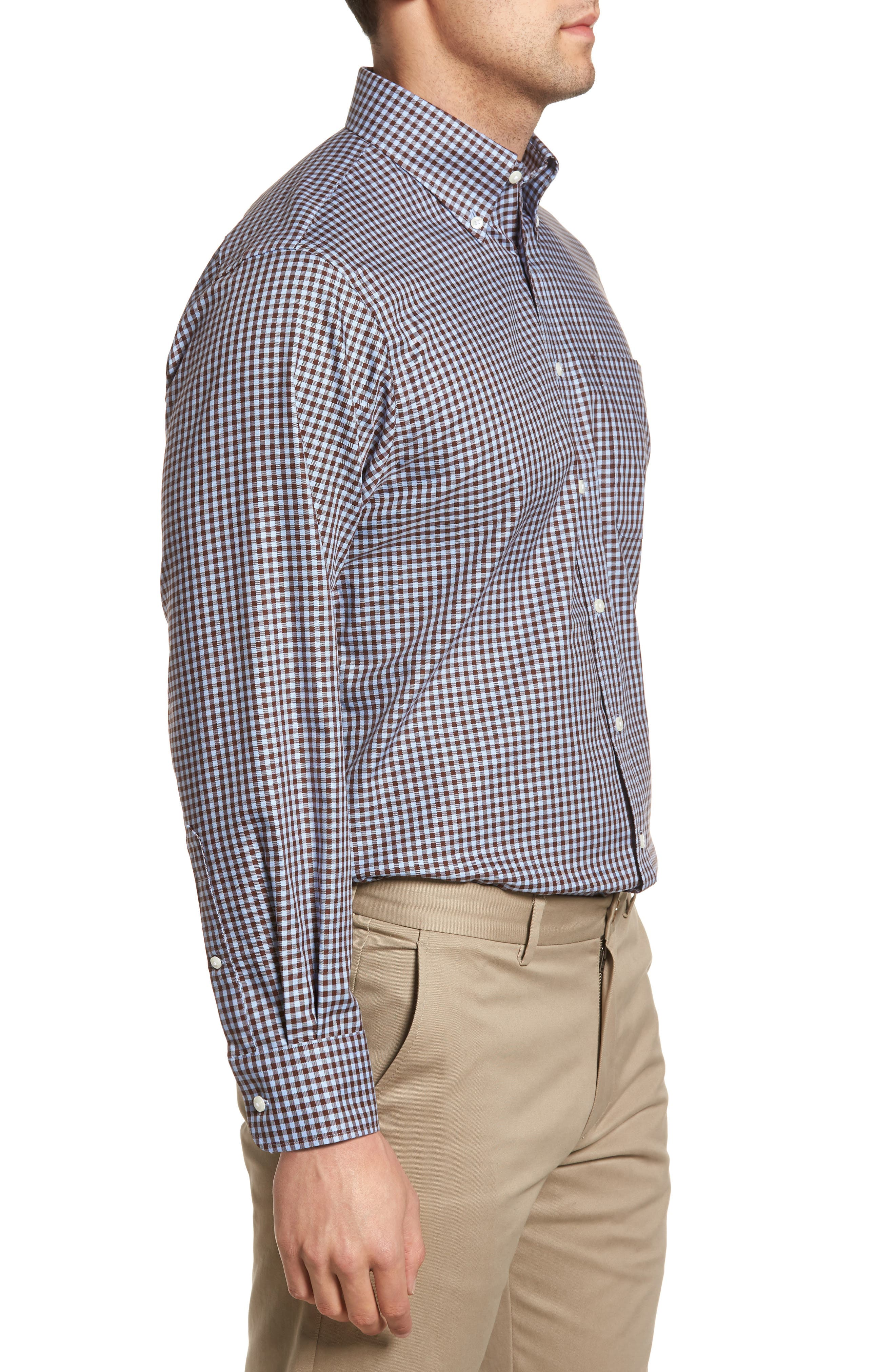 ,                             Traditional Fit Non-Iron Gingham Dress Shirt,                             Alternate thumbnail 44, color,                             211