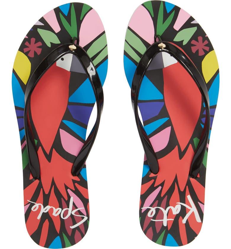 KATE SPADE NEW YORK natal flip flops, Main, color, 001