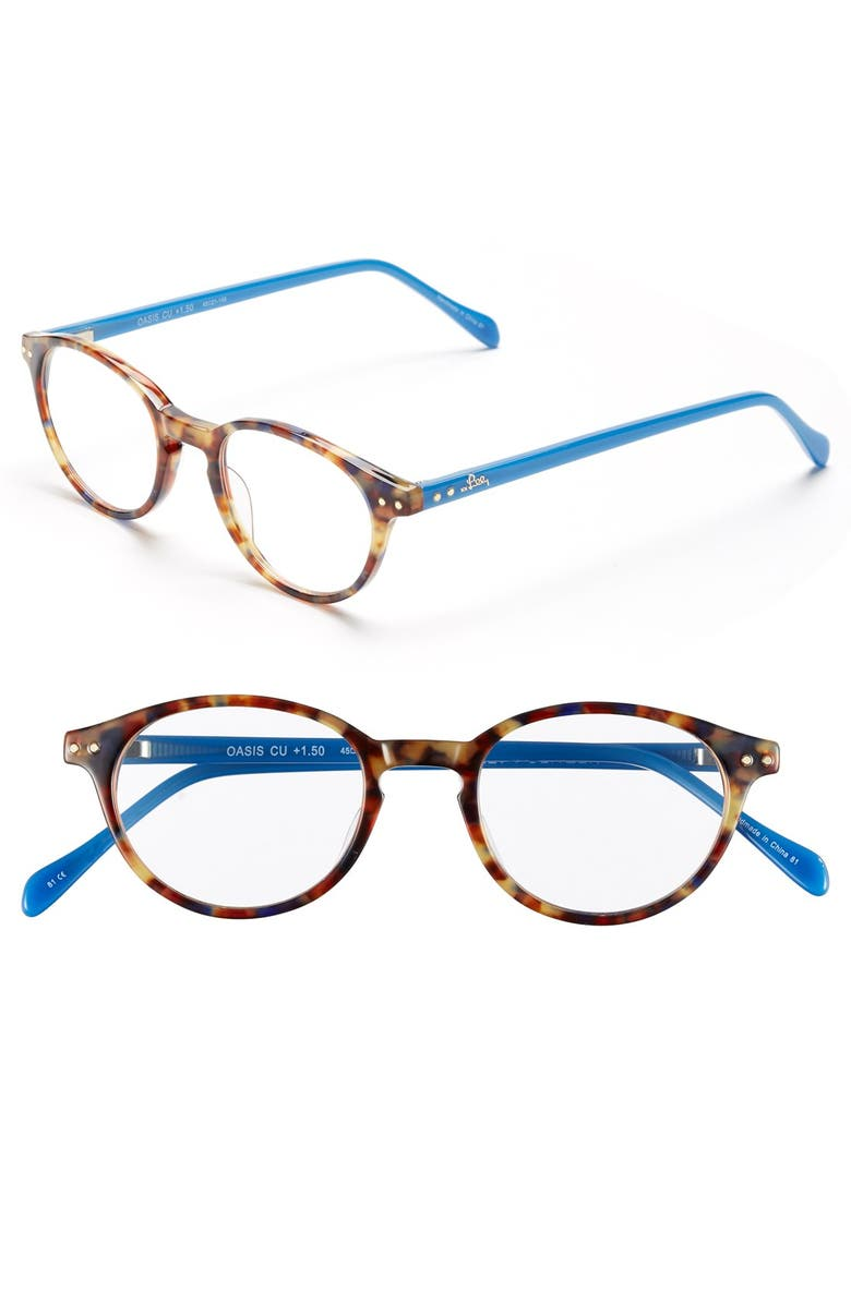 LILLY PULITZER<SUP>®</SUP> 'Oasis' 45mm Reading Glasses, Main, color, 400