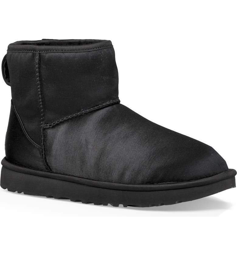 20163a72641 UGG® Classic Mini Genuine Shearling Lined Satin Boot (Women)   Nordstrom
