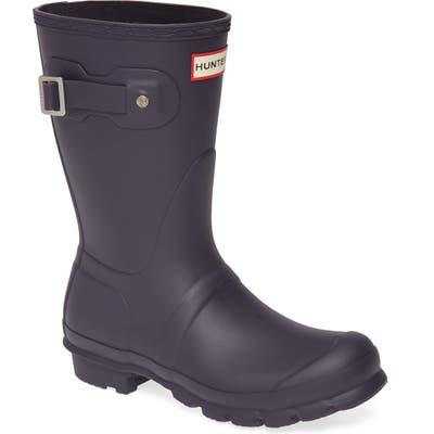 Hunter Original Short Waterproof Rain Boot, Purple
