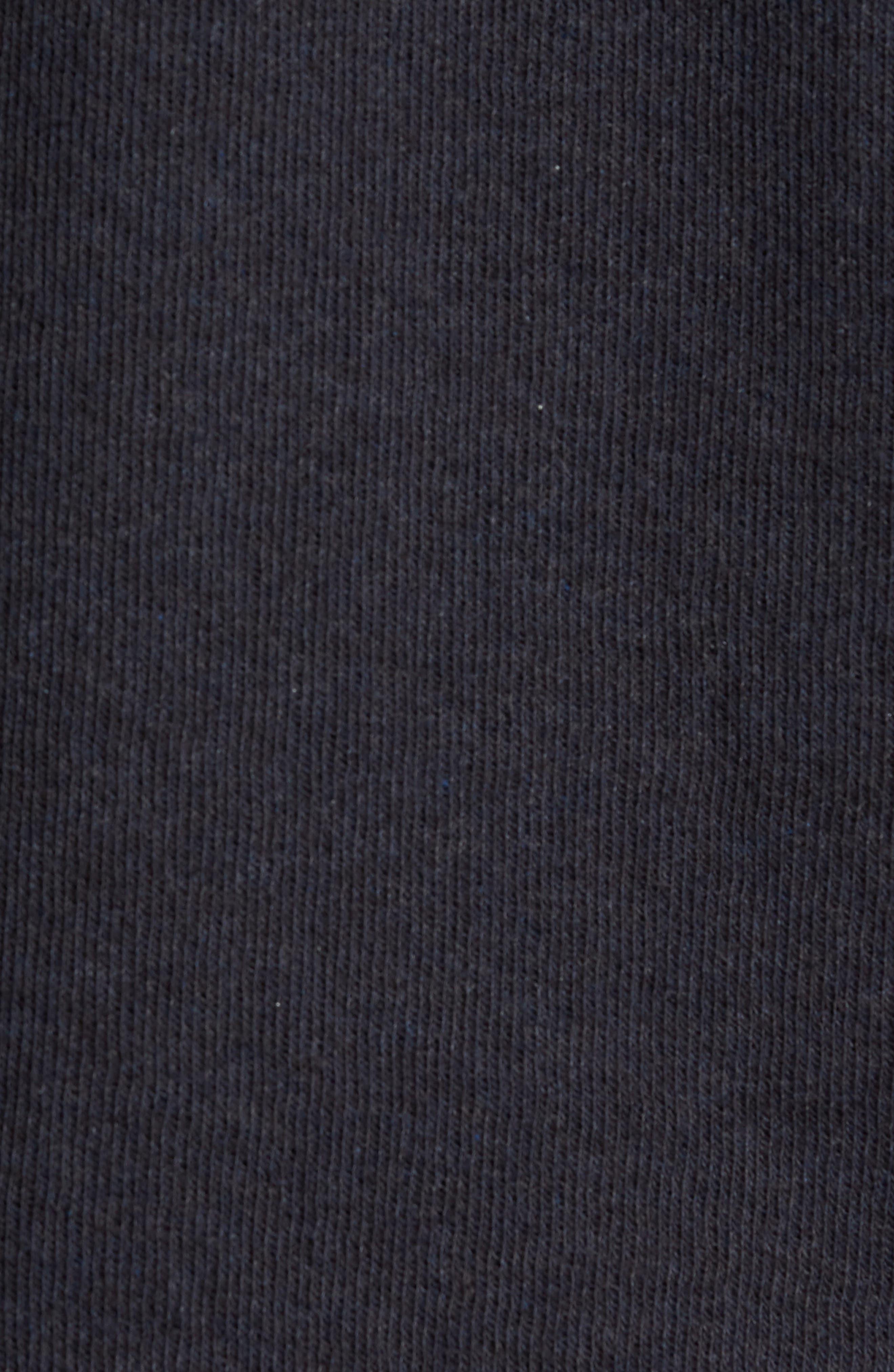 ,                             Double Knit Slim Fit Long Sleeve T-Shirt,                             Alternate thumbnail 5, color,                             MANHATTAN NAVY