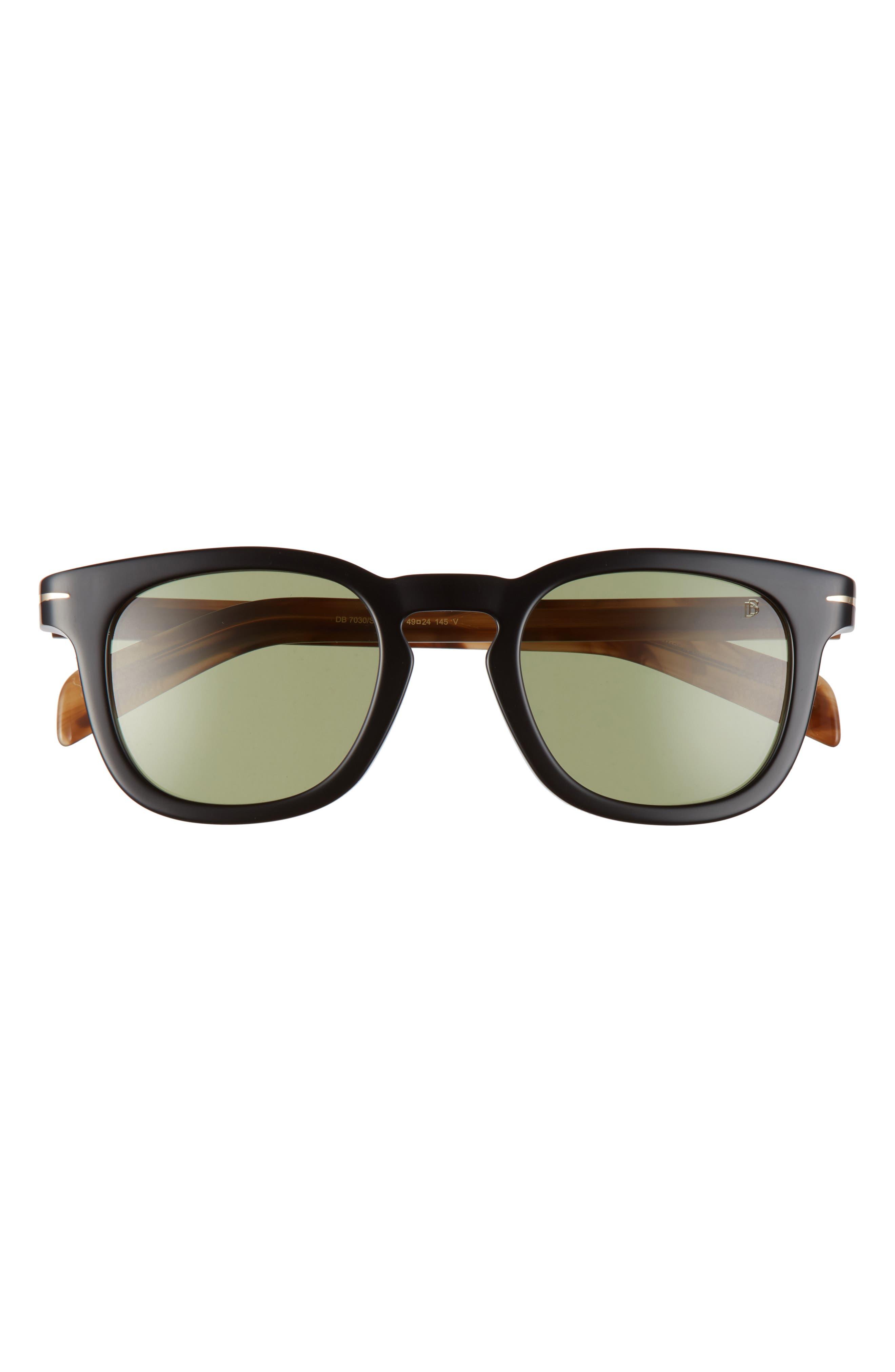 Men's Eyewear By David Beckham 49mm Square Sunglasses