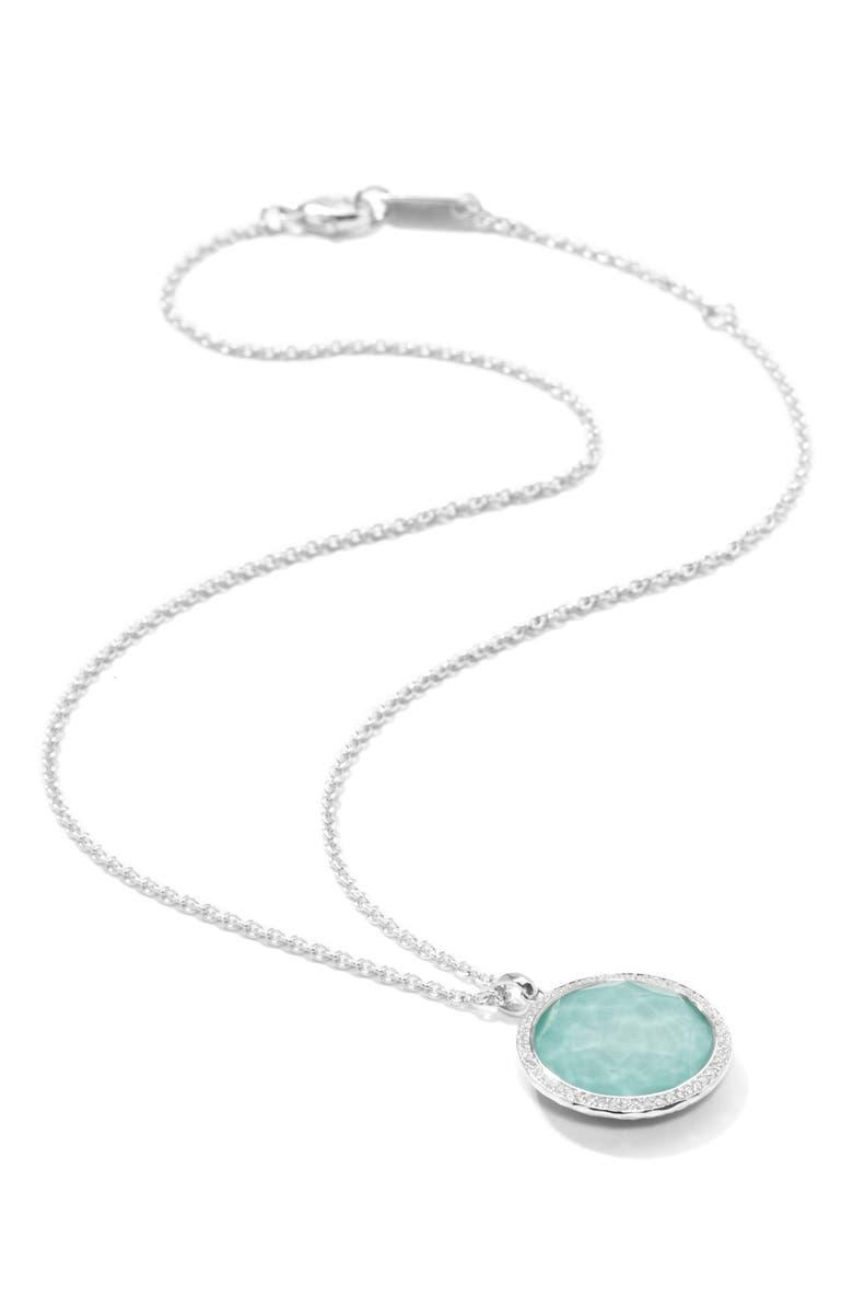 IPPOLITA 'Stella' Pendant Necklace, Main, color, SILVER/ TURQUOISE