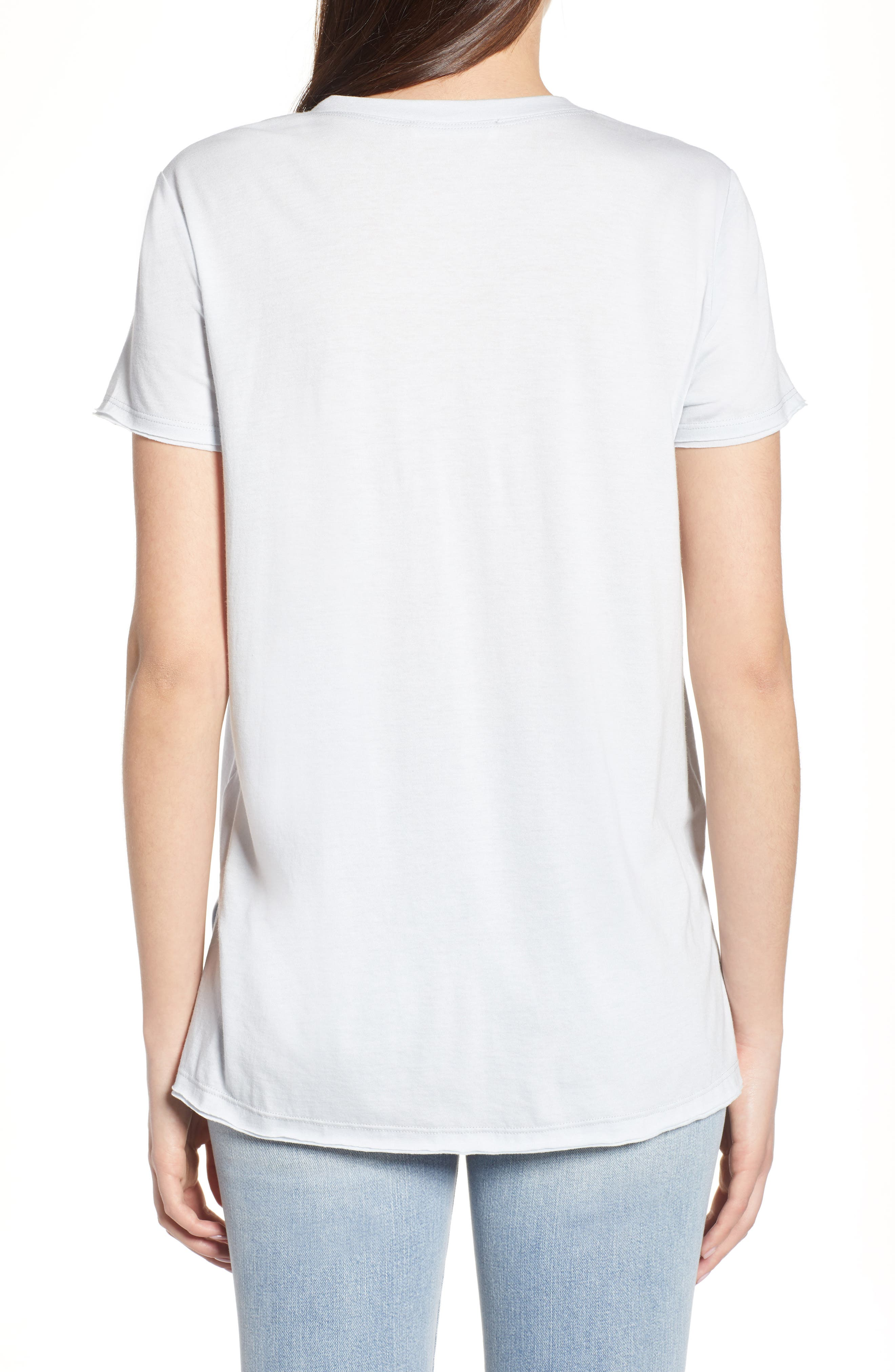 ,                             Raw Edge Side Slit Tee,                             Alternate thumbnail 2, color,                             073