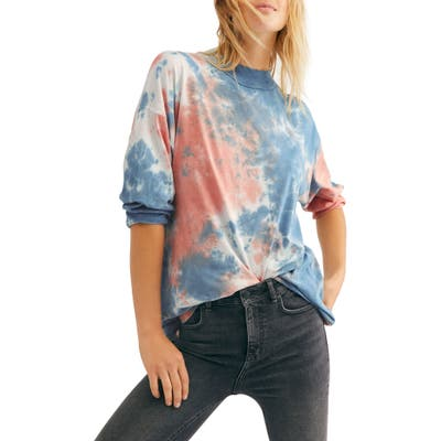 Free People Be Free Tie Dye Tee, Blue