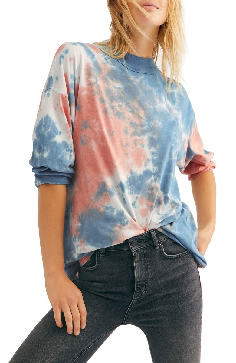 FREE PEOPLE Be Free Tie Dye Tee, Main, color, COTTON CANDY