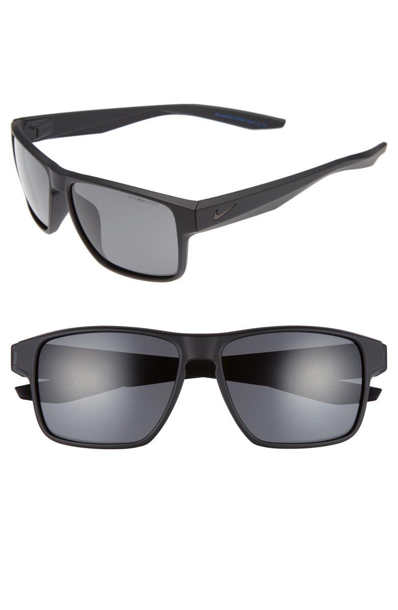 NIKE Essential Venture 59mm Sunglasses, Main, color, MATTE BLACK