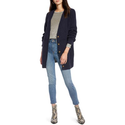 Treasure & Bond Cable Cardigan, Blue
