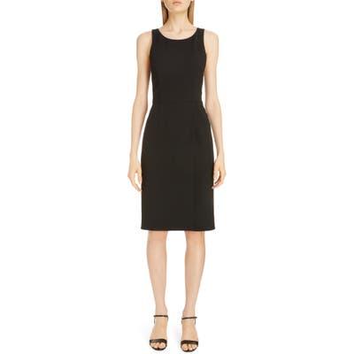 Givenchy Wool Sheath Dress, 8 FR - Black