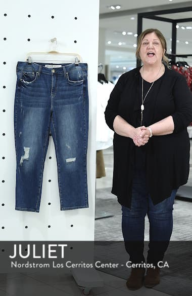High Rise Straight Crop Jeans, sales video thumbnail
