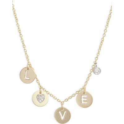 Meira T Love Diamond Charm Necklace