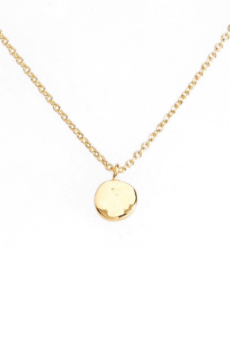 GORJANA Chloe Small Pendant Necklace, Main, color, GOLD