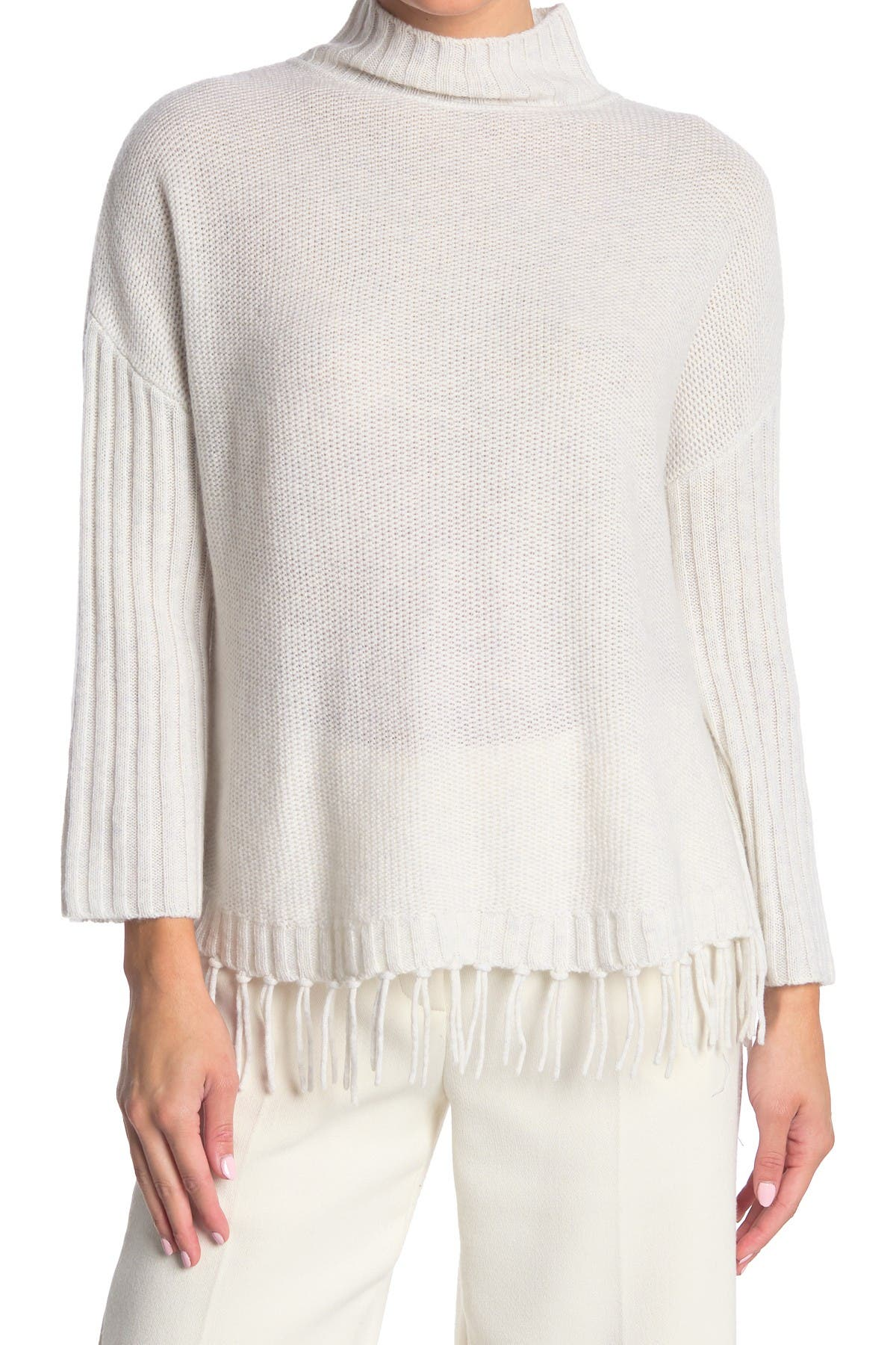 Image of Kinross Fringe Trim Cashmere Sweater
