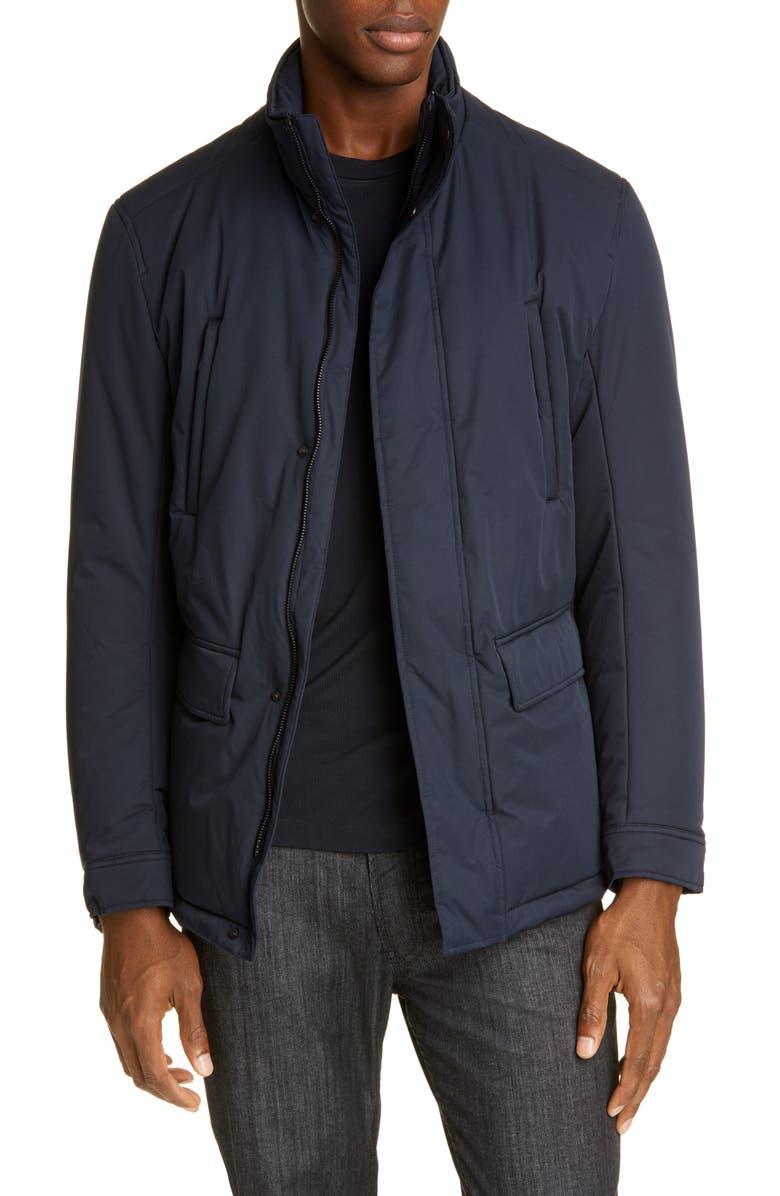 EMPORIO ARMANI Field Jacket, Main, color, NAVY