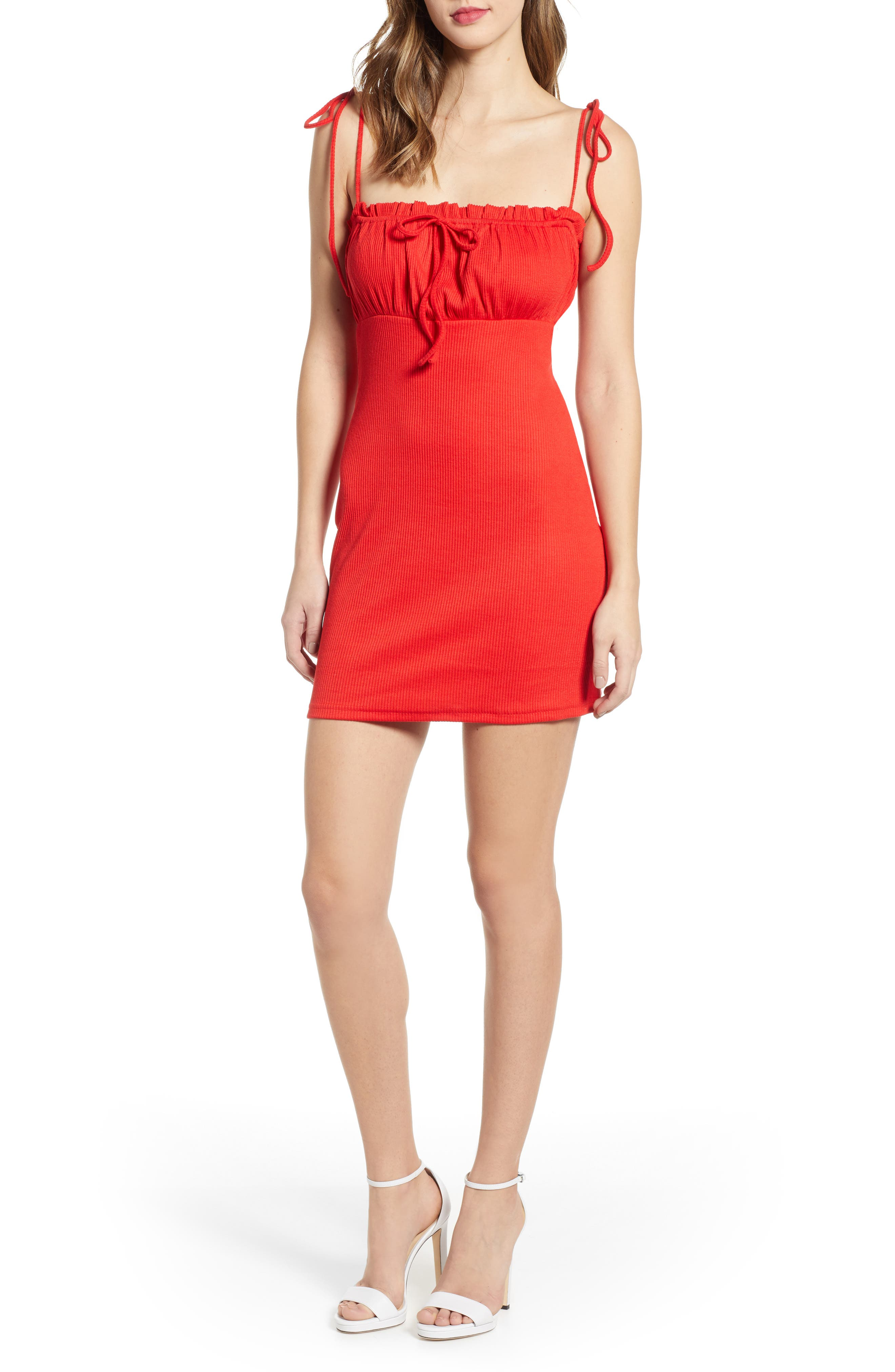 ,                             Saffron Minidress,                             Main thumbnail 14, color,                             600