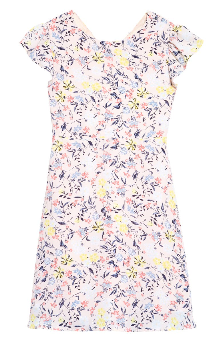 NORDSTROM Floral Print A-Line Dress, Main, color, PINK PEONY BUD FLORAL