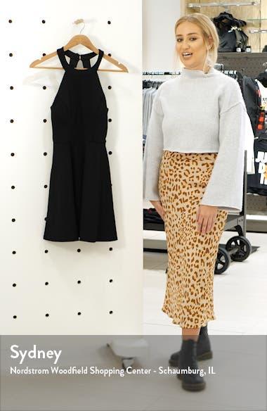 Bow Back Scuba Crepe Fit & Flare Dress, sales video thumbnail