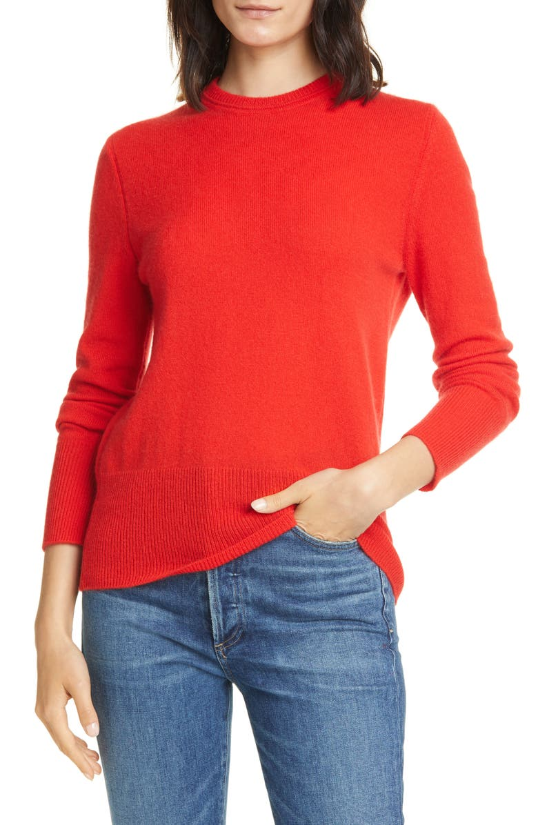 EQUIPMENT Sanni Cashmere Sweater, Main, color, AURA ORANGE