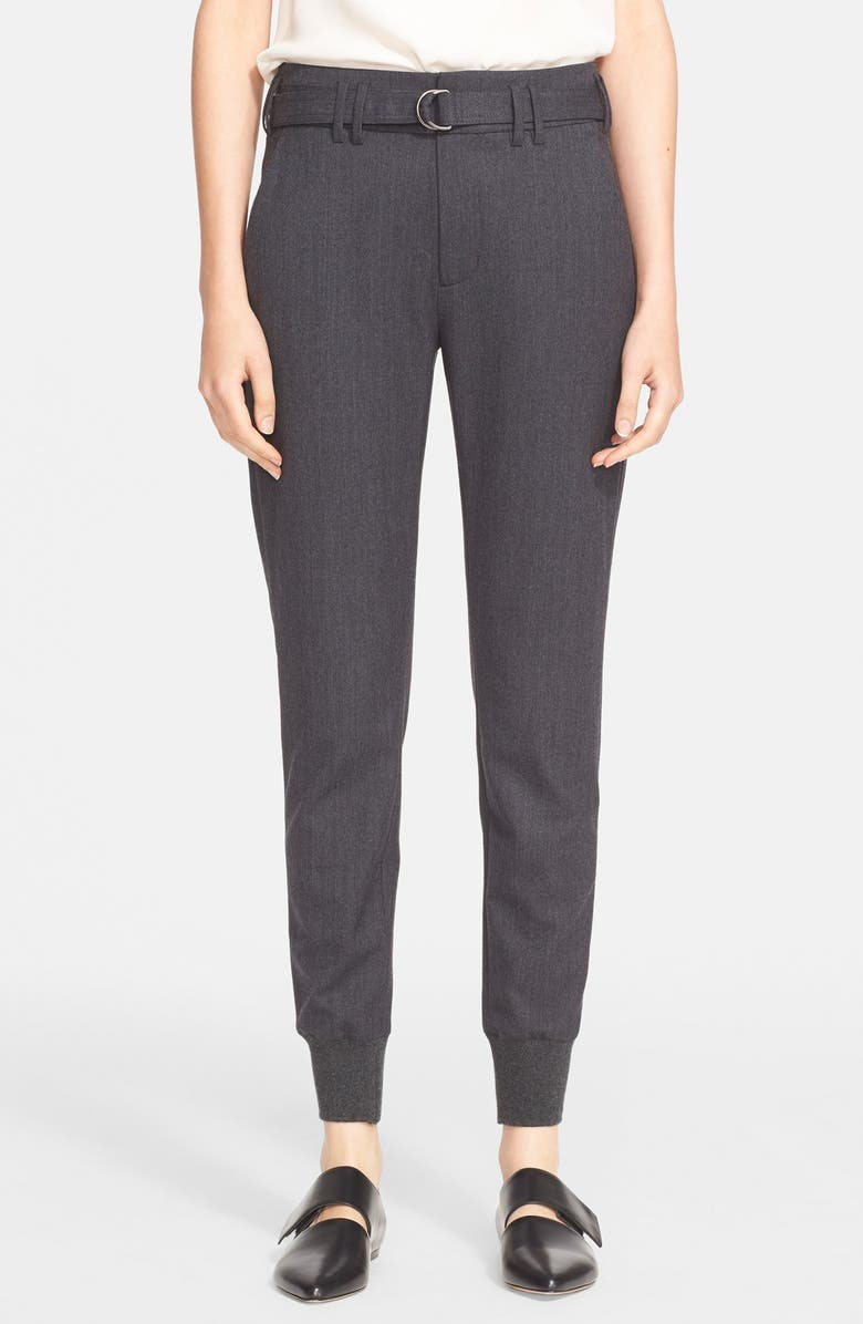 VINCE Belted Rib Cuff Jogger Pants, Main, color, 021