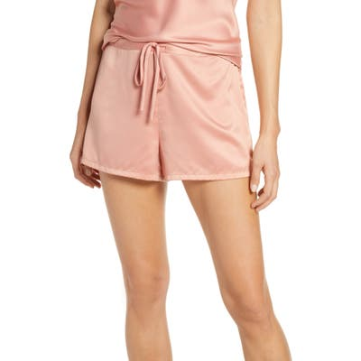 Natori Satin Elements Pajama Shorts, Pink