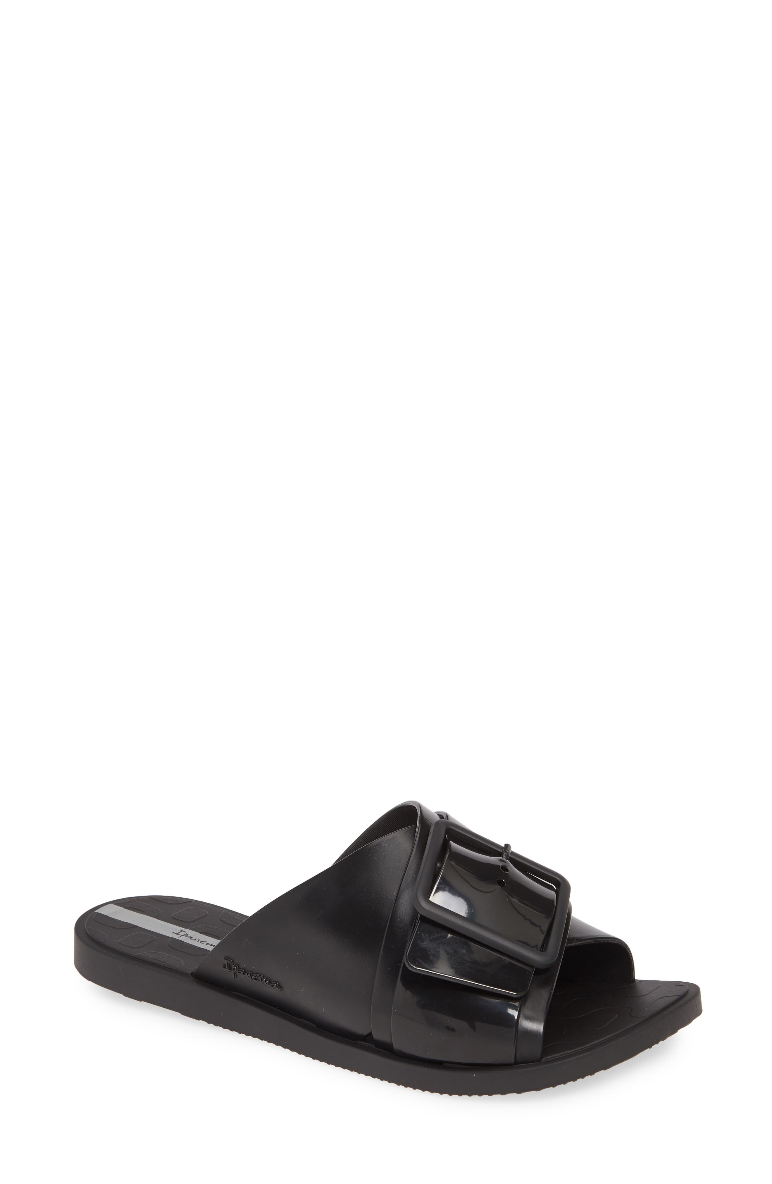 Free Slide Sandal, Main, color, BLACK