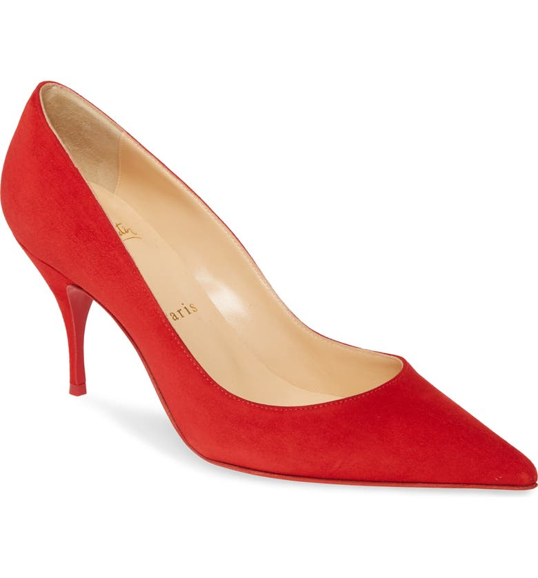 CHRISTIAN LOUBOUTIN Clare Pointy Toe Pump, Main, color, LOUBI RED