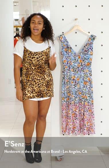 Holly Floral Print Silk A-Line Dress, sales video thumbnail