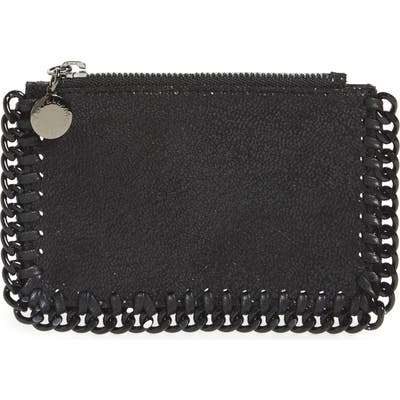 Stella Mccartney Falabella Shaggy Deer Card Case - Black