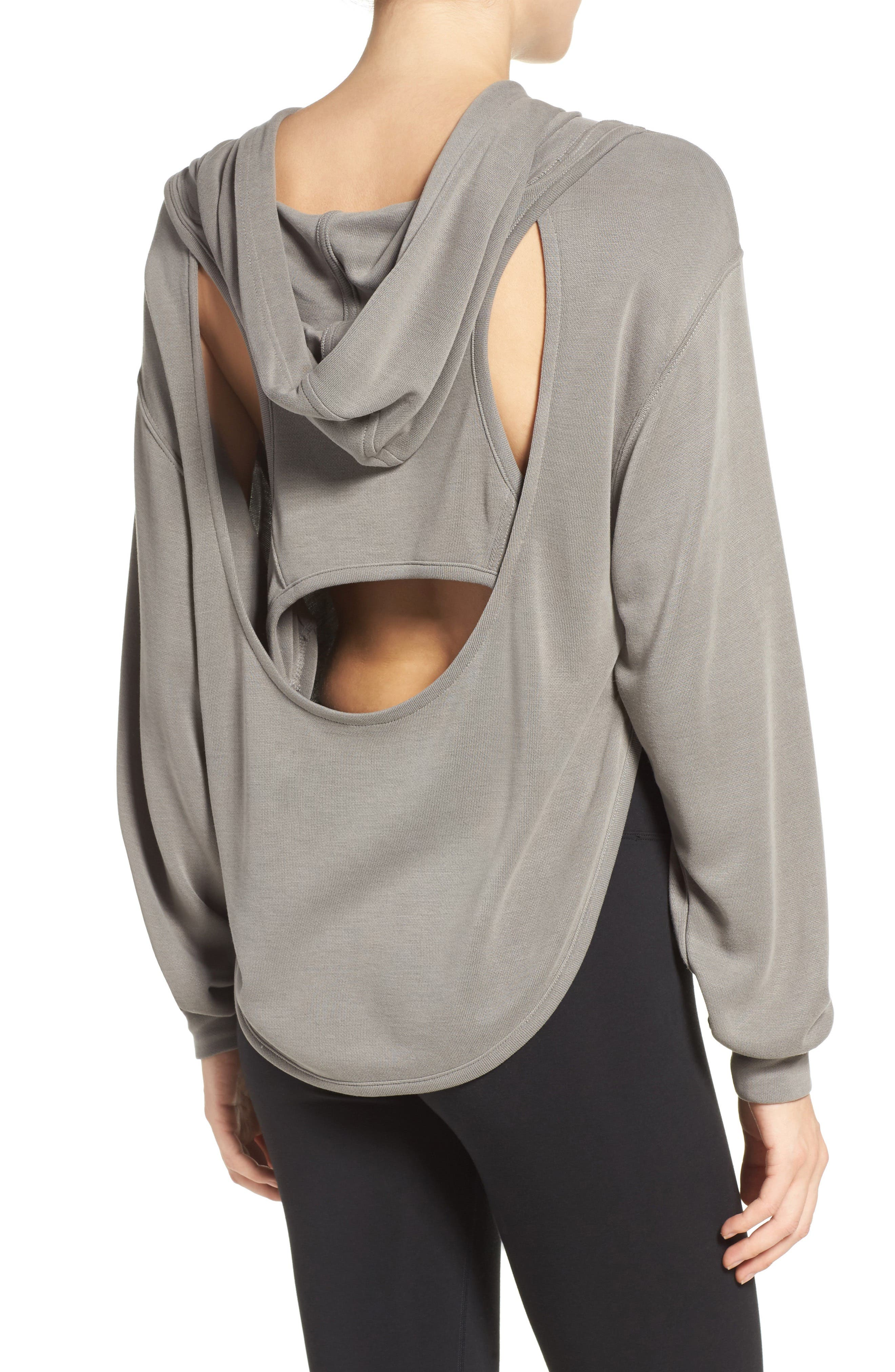 ,                             Back Into It Cutout Hoodie,                             Alternate thumbnail 24, color,                             300