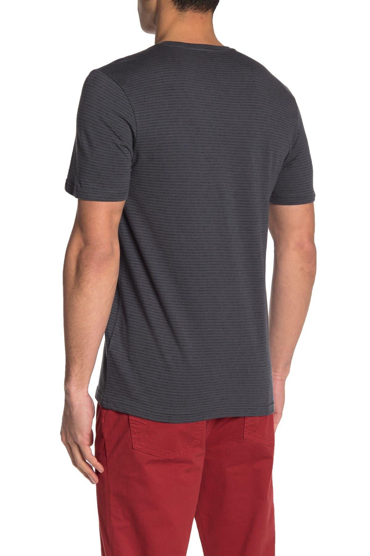 Public Opinion Short Sleeve Striped Pocket T-Shirt