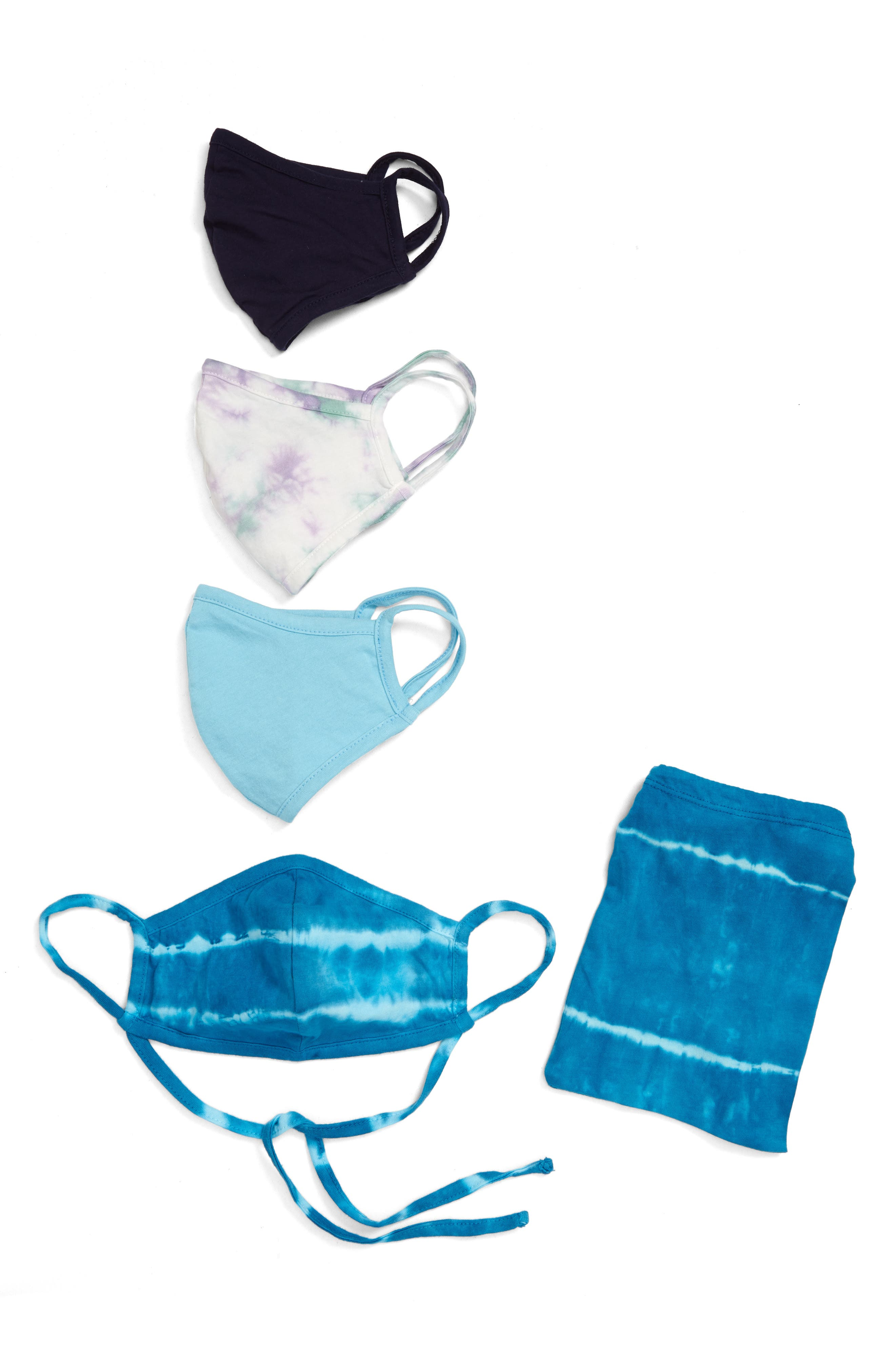 Image of Nordstrom Tie-Dye Adult Face Mask - Pack of 4