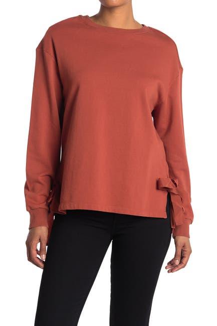 Image of Velvet Heart Side Tie Pullover Sweatshirt