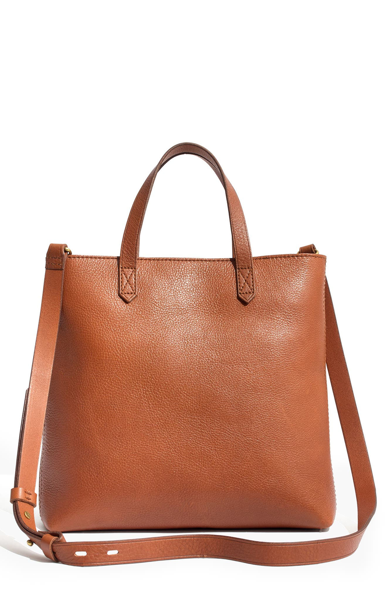 Small Transport Leather Crossbody Tote, Main, color, 200