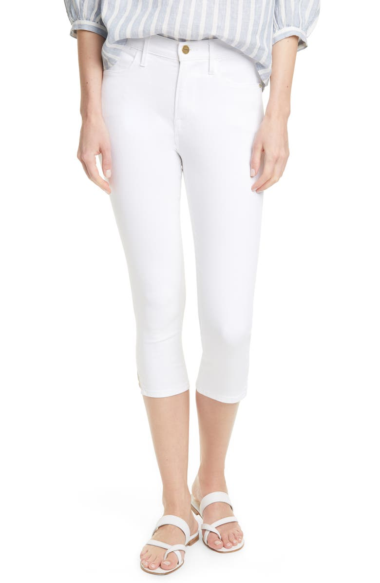 FRAME Le High Pedal Pusher Jeans, Main, color, BLANC