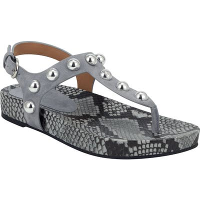 Marc Fisher Ltd Indie Studded Sandal- Blue